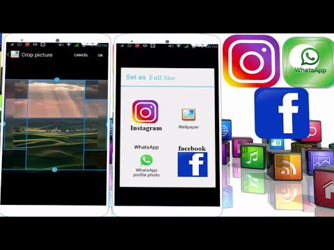 How to Set Full Size Picture on Wallpapers, Whatsapp, Facebook, Instagram in Android No Crop