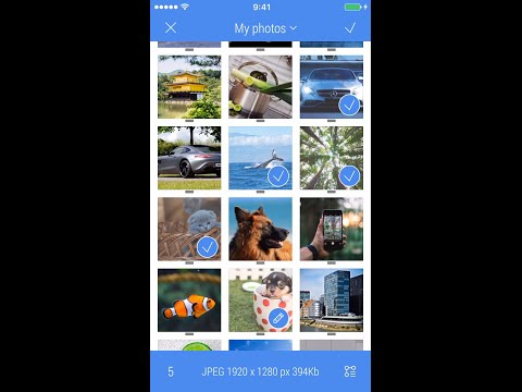 Crop-Size for iOS preview (group of images)