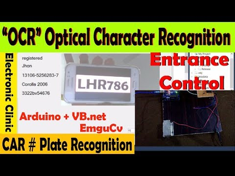 OCR Optical Character recognition based car Number Plate Recognition using Arduino,vb.net and EmguCv