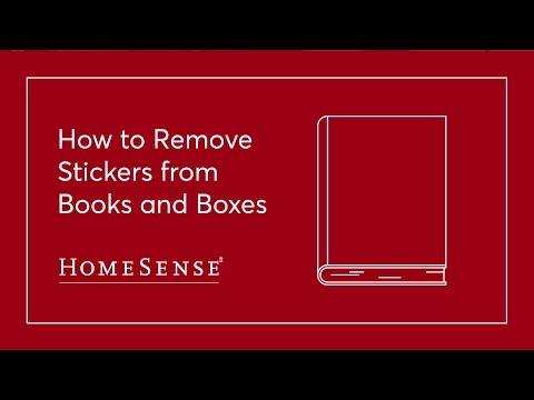 HomeSense Sticker Removal: Books & Boxes