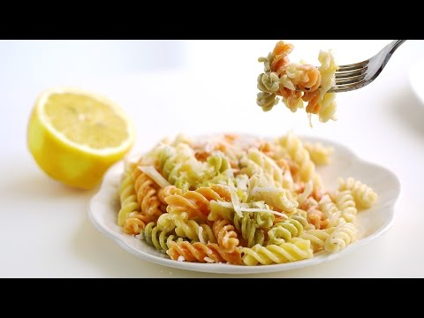 Lemon Parmesan Pasta Recipe 레몬 파스타 만들기 - 한글 자막