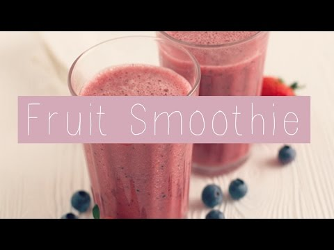 Whey Protein Fruit Smoothie Shake| Lilybelle Morris
