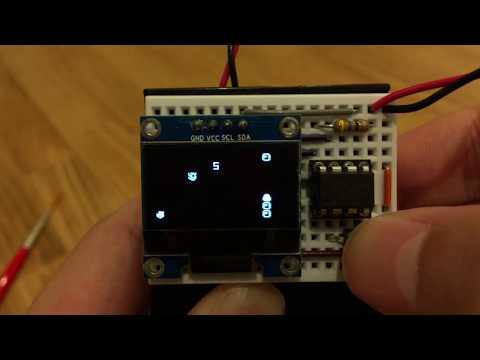 DIY game console  based on ATtiny85 Arduino