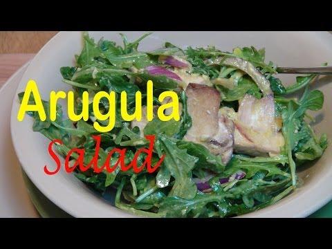 Arugula (Rocket)  and Mushroom Salad