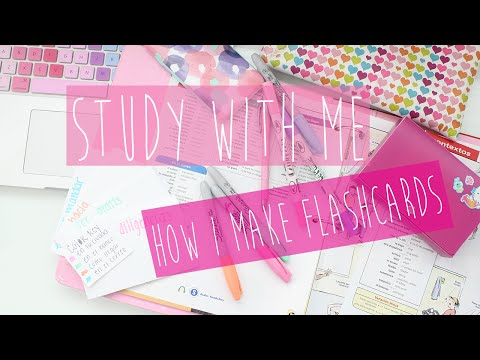 Study With Me: How I Make Flashcards  ♡