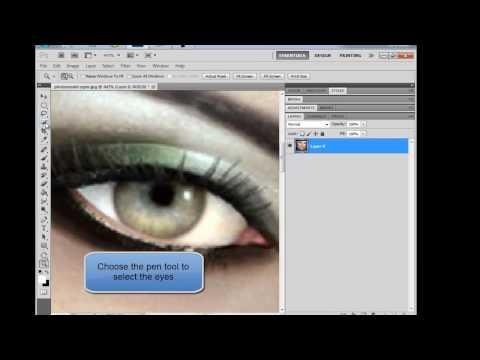 Photoshop : Change eyes color
