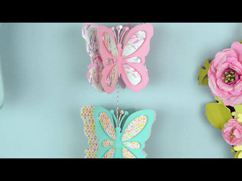 Quick Make - create a hanging butterfly decoration
