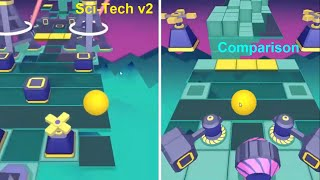 Rolling Sky - Sci Tech v2 Comparison ( OTFT / LongH moment )