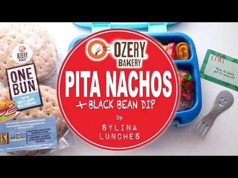 DIY Lunchables - Pita Nachos & Black Bean Dip