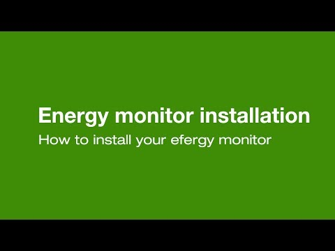 How to install an efergy sensor and transmitter