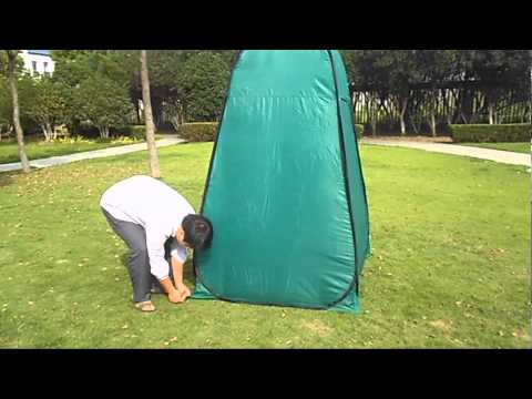 How to setup and folding portable toilet tent?