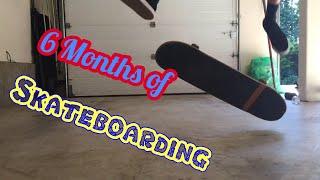 Skateboard progression over 6 months