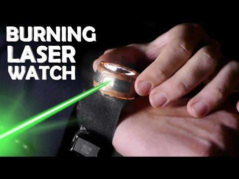 DIY Burning Laser Watch! - Amazing Spy Gadget In Real Life!!!