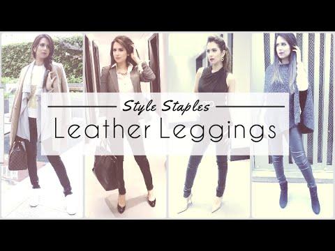 Style Staples | Leather Leggings | JASMINA PURI