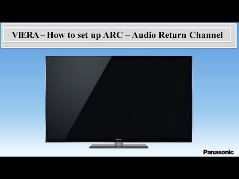 Panasonic Viera - How to set up the ARC