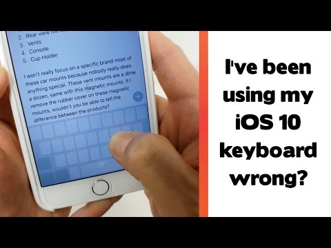 Apparently I've been using the keyboard all wrong? iOS 10 Tips and Tricks