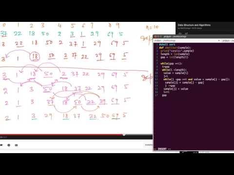 Python Algorithms - Shell sort
