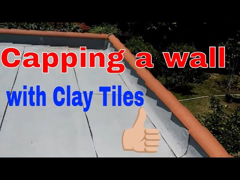 Capping a wall with Clay Tiles ... tips to finish your tile installation.