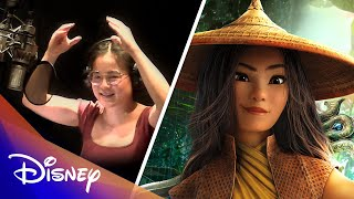 The Cast of Raya and the Last Dragon in the Recording Booth | Disney