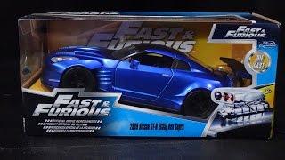 Fast & Furious 6 - Nissan GTR Ben Sopra R35 - Jada Toys Unboxing - 1/24 Scale Model Car
