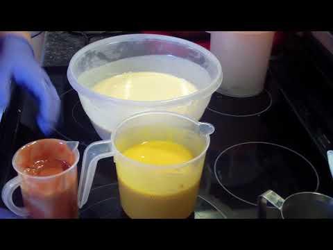 Making & Cutting Coconut Cabana Soap