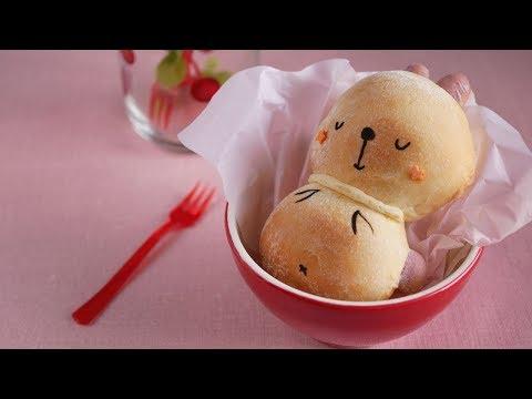 春だからついついウトウト~♪うさぎさんのパン Rabbit Shaped Bread