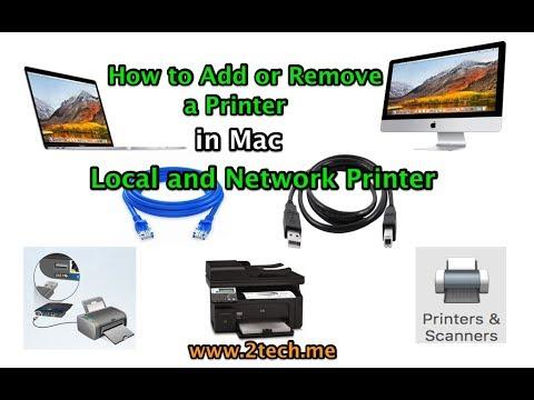 how to add a Printer in Mac