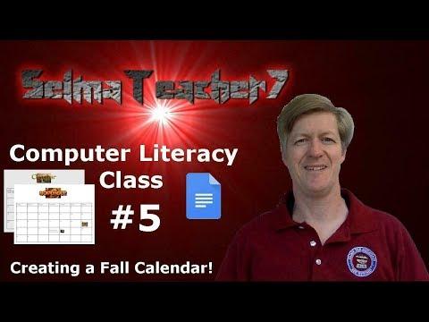 Google Docs and Using WordArt to make a Calendar! Computer Literacy Lesson 5
