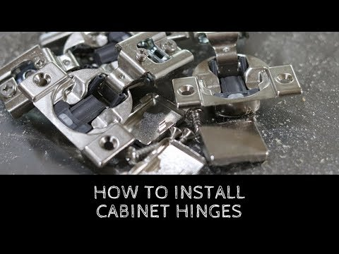 How To Install Cabinet Door Hinges