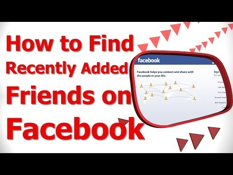 How to Find Recently Added Friends on Facebook