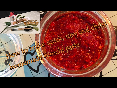 How to make the easiest and most tasty homemade kimchi paste