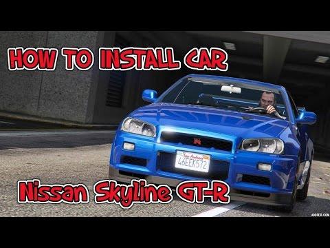HOW TO INSTALL CAR Nissan Skyline GT-R