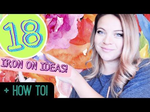 18 CRICUT Iron on IDEAS + How to Use Iron On!