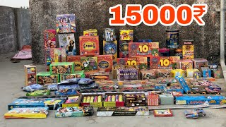 15,000 Rs Worth Diwali Stash | Best Crackers Undar 10,000 Rs | Crackers Experiment in hindi |