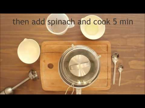 Spinach with potatoes - baby food 4+month - easy homemade recipe