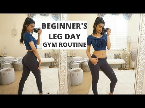Beginner's Leg Day Gym Routine | Building Lower Body Muscle