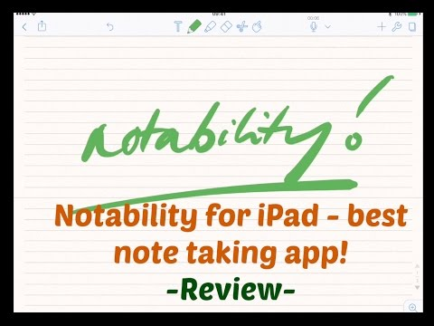 Notability - best note taking app - review for iPad pro 9.7