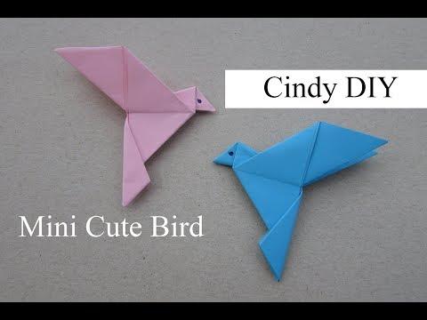 Mini Cute Bird Origami | Easy Paper Craft Tutorial for Beginner | Cindy DIY