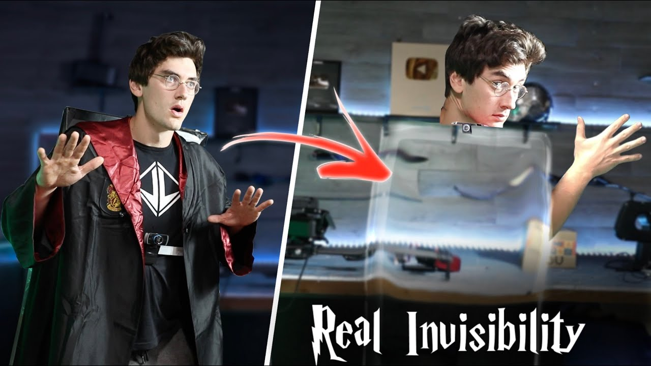 Real Invisibility Cloak Using Artificial Intelligence! - Harry Potter Invisibility!!
