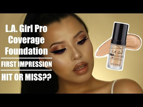 GRWM + L.A. Girl Pro Coverage Foundation First Impression