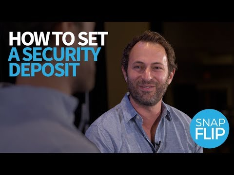 How to Set a Security Deposit