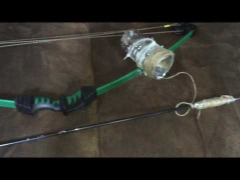 Homemade bow fishing set up