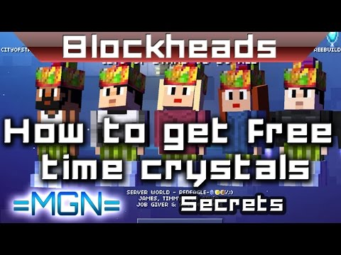 Blockheads - How to get free time crystals without glitches/cheats/hacks/dupes.