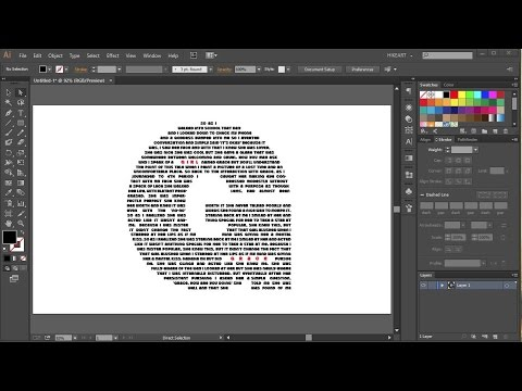 How to Fill a Character with Text in Adobe Illustrator