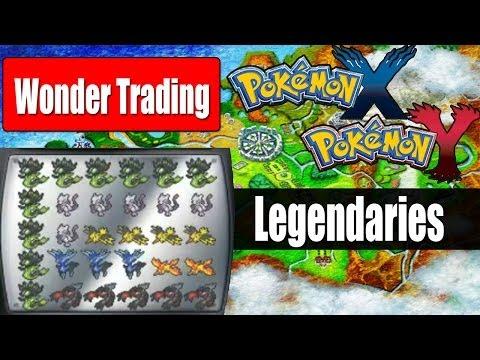 Pokemon X & Y - Wonder Trading A Box Of Legendary Pokemon