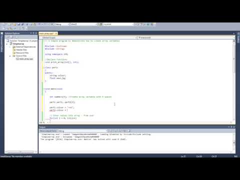 11 Create Array of Class Objects