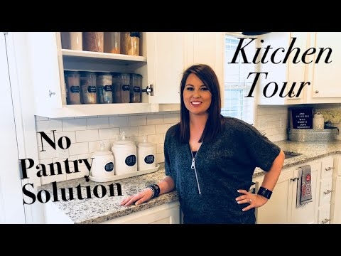 KITCHEN TOUR | KITCHEN STORAGE | NO PANTRY