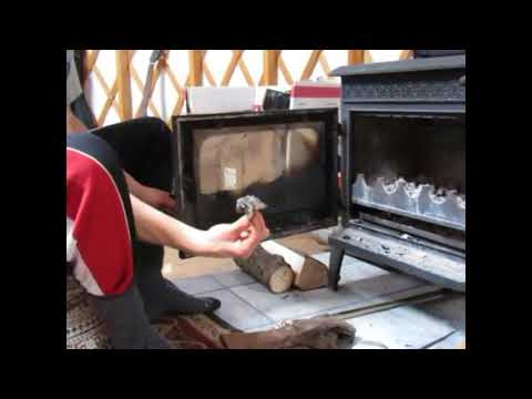 Cleaning woodstove glass with no chemicals