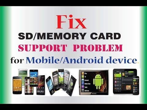 SD card not supported/not working-how to fix for mobile/android device