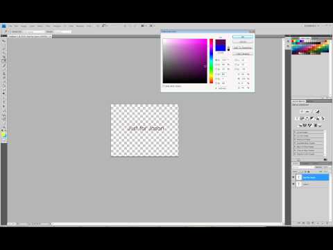 Change text and background colour in Photoshop